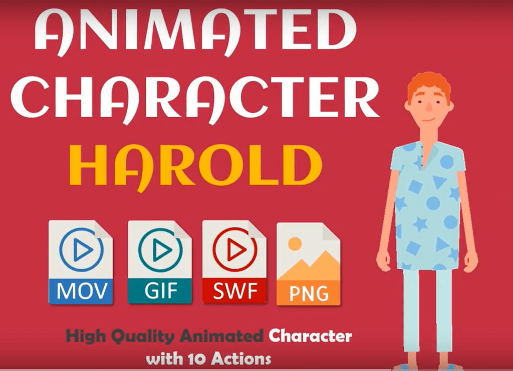10-Animated-Character-Harold