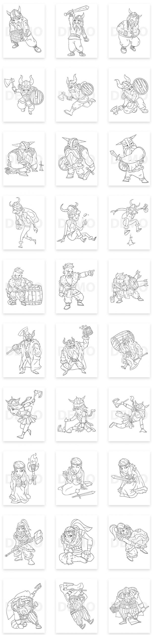 Viking-Coloring-Pack-PLR-30-images