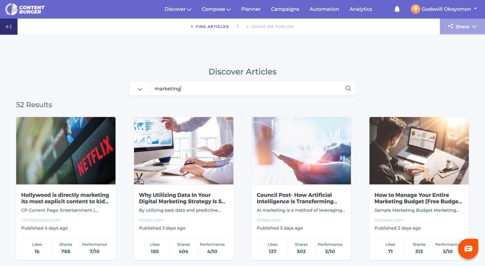 ContentBurger-Discovery