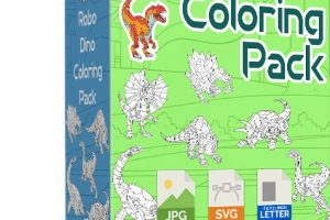 Robo-Dino-Coloring-Pack-PLR-Review