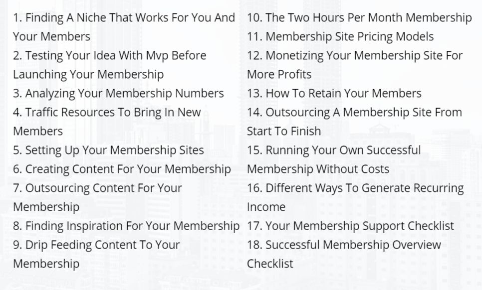 IM Checklist Gold Membership Review