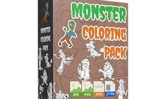 Monster-Coloring-Pack-PLR-Review