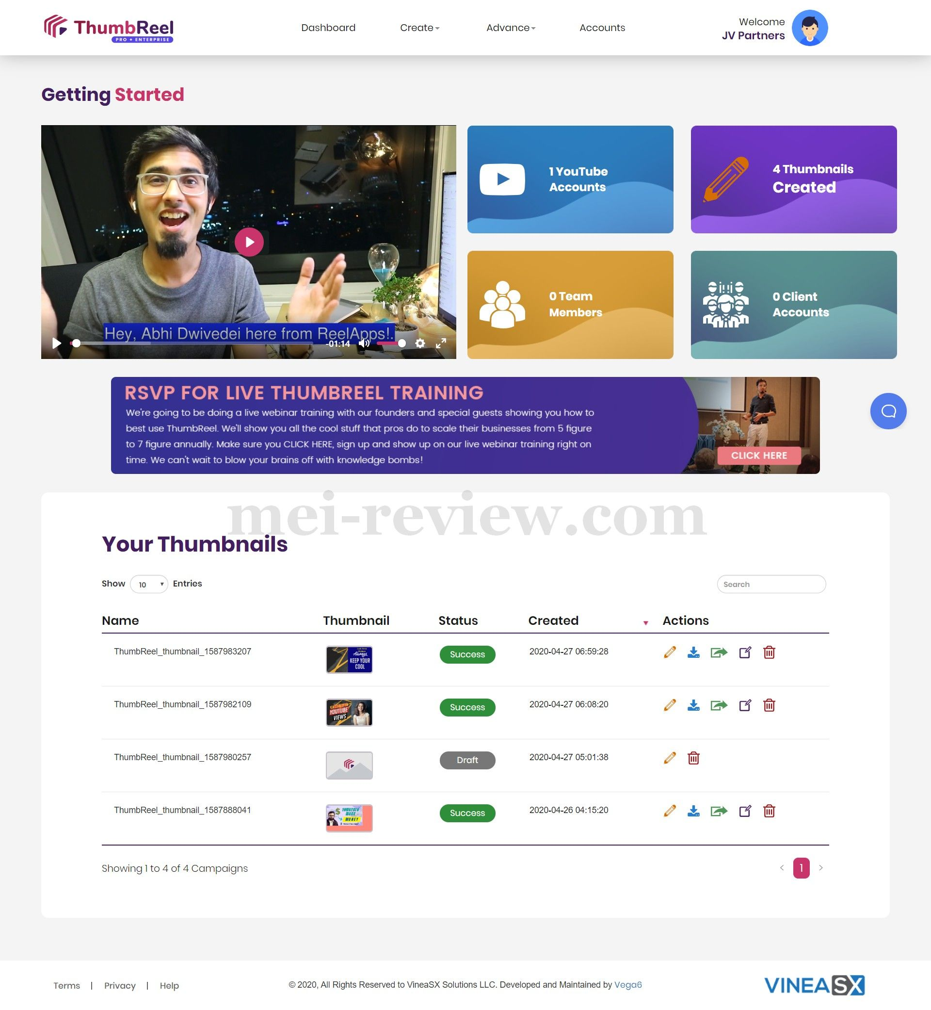 ThumbReel-Demo-1-Dashboard