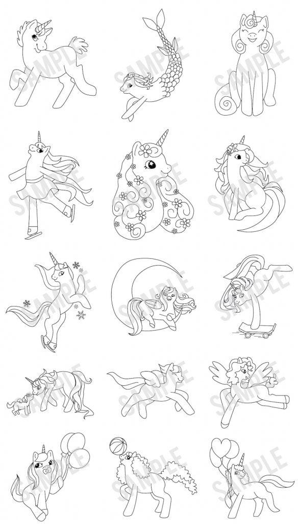 LCB-DFY-Unicorns-Coloring-Pack-Sample
