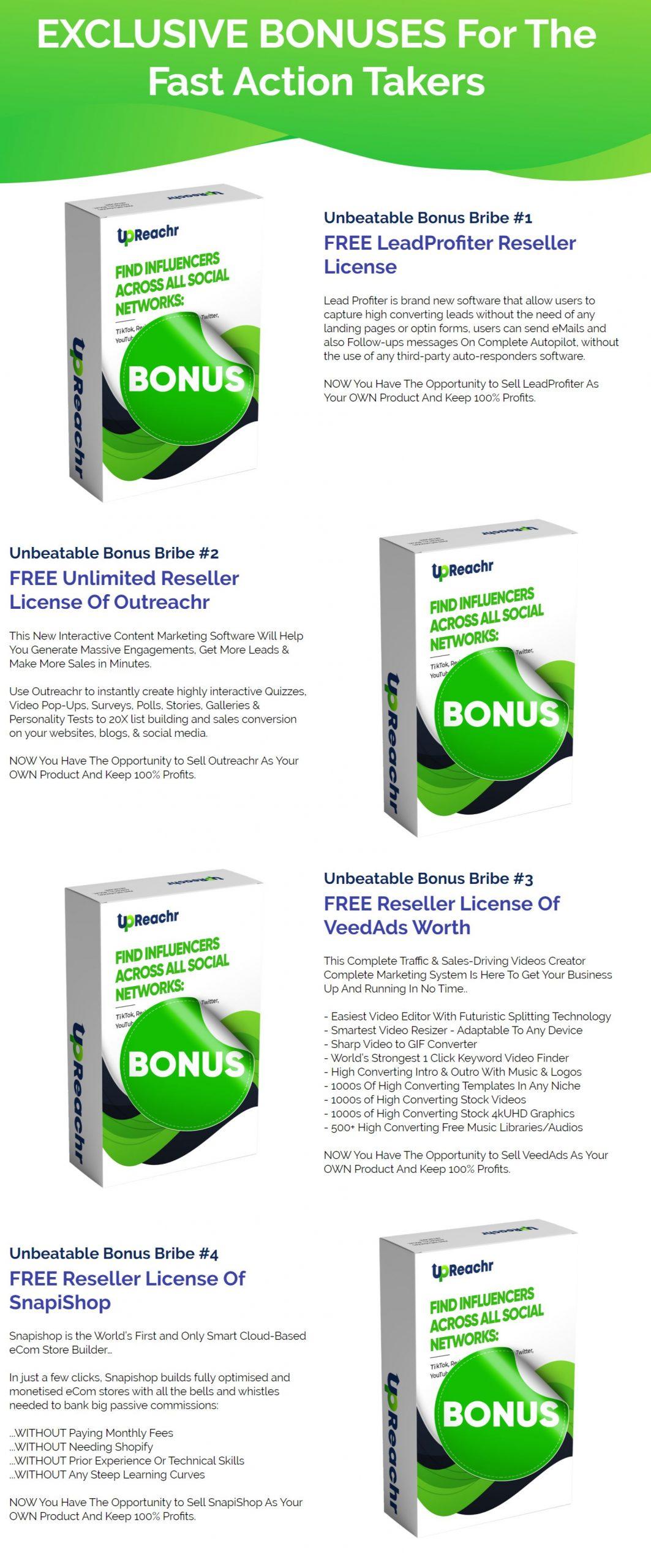 Upreachr-Bonuses
