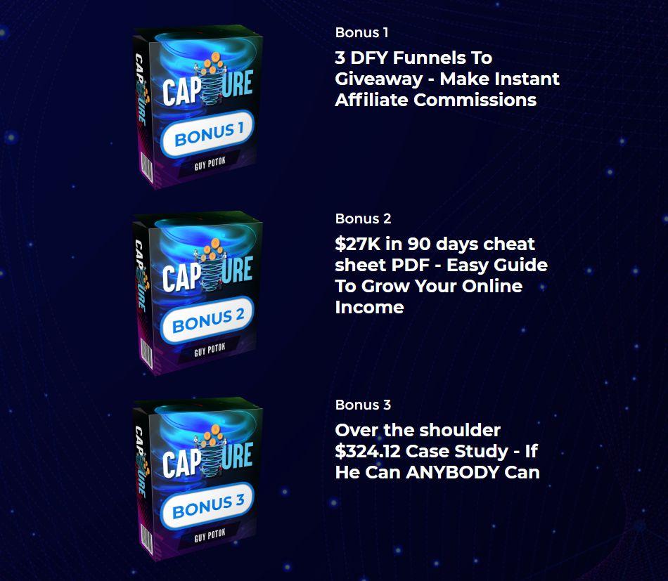 CAPTURE-bonuses