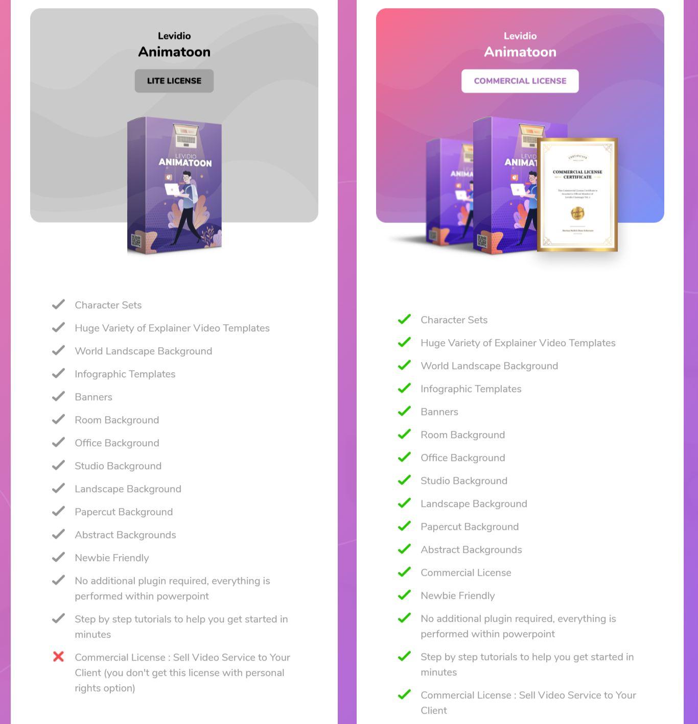 Levidio-Animatoon-Pricing