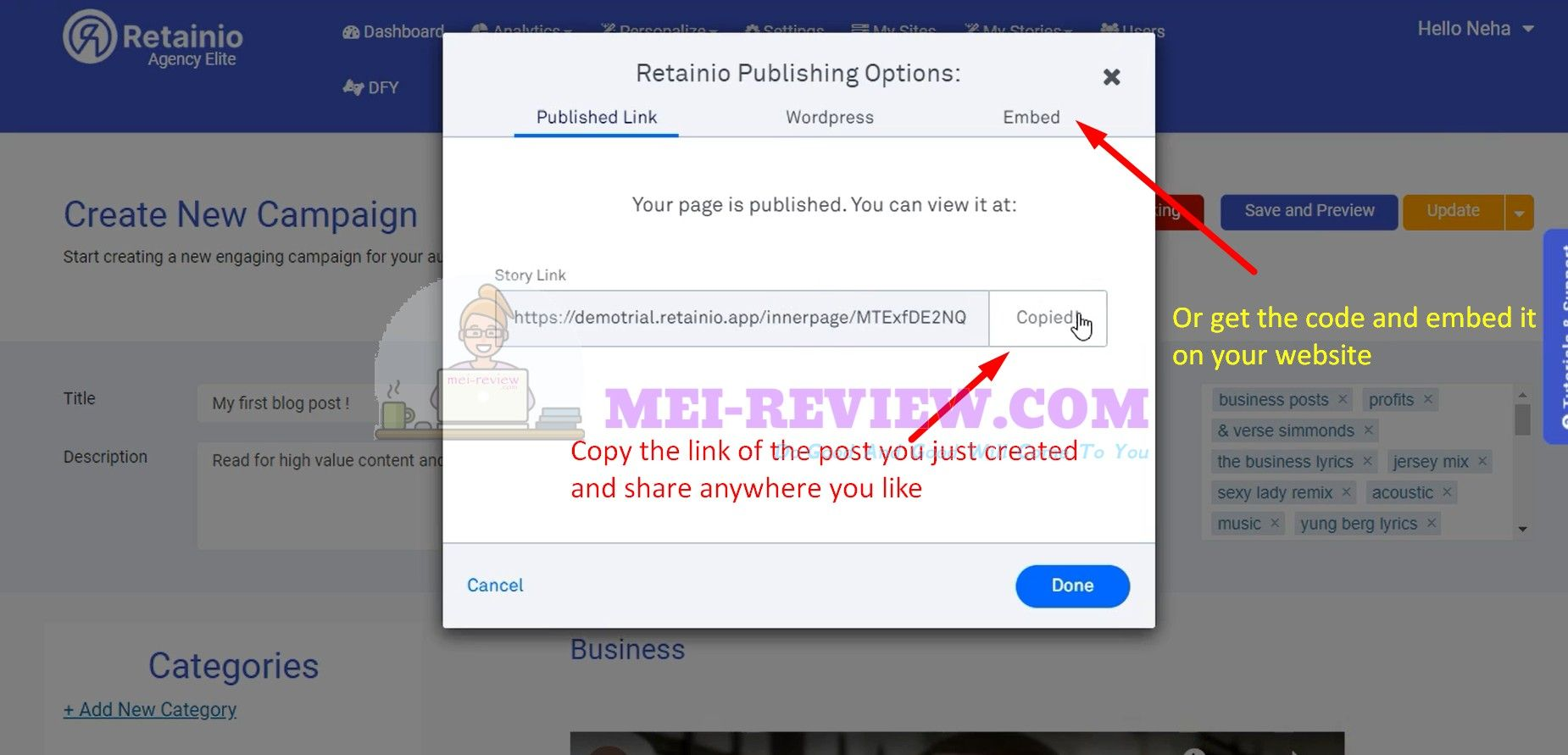 Retainio-Publish