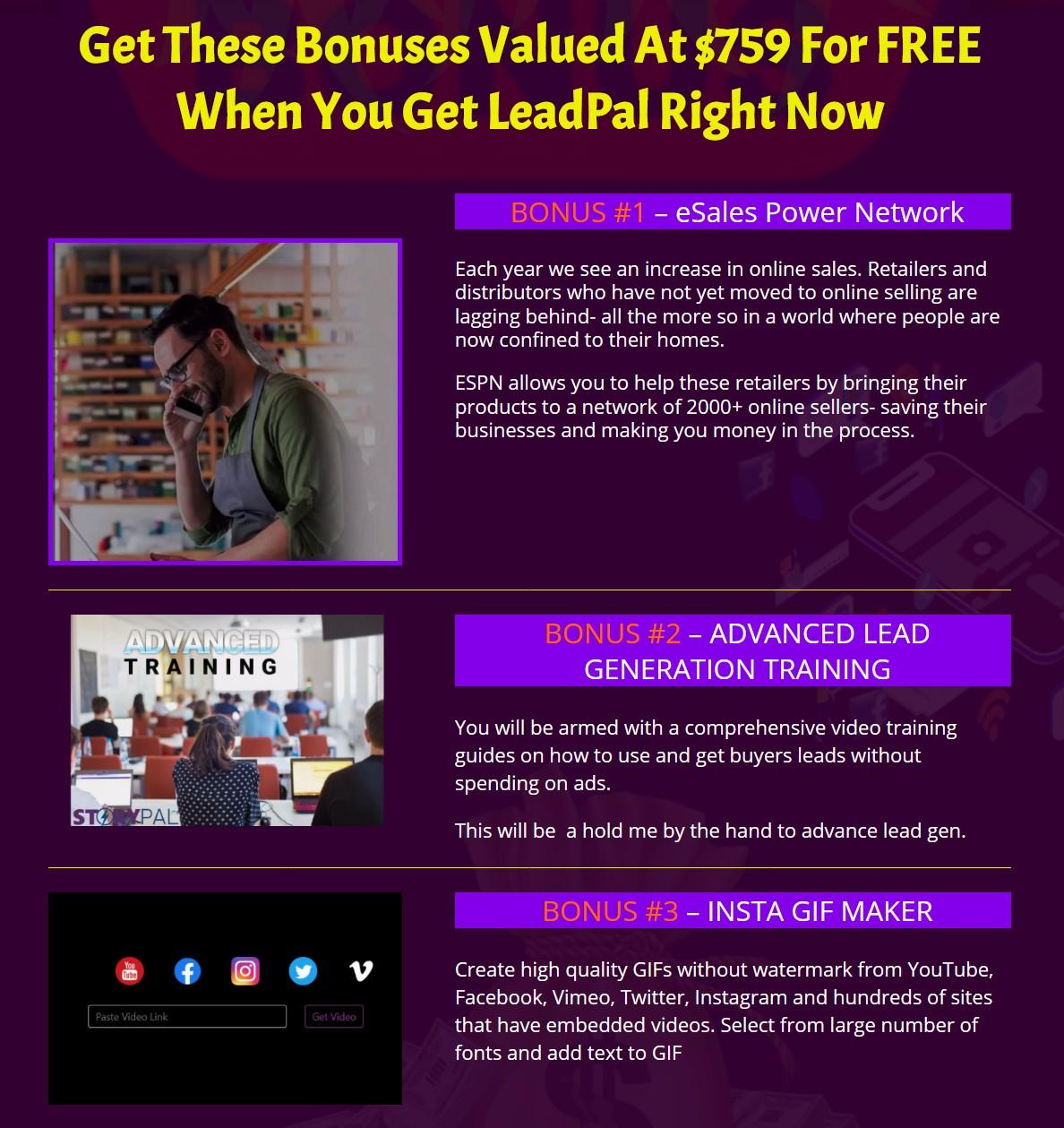 LeadPal-bonus