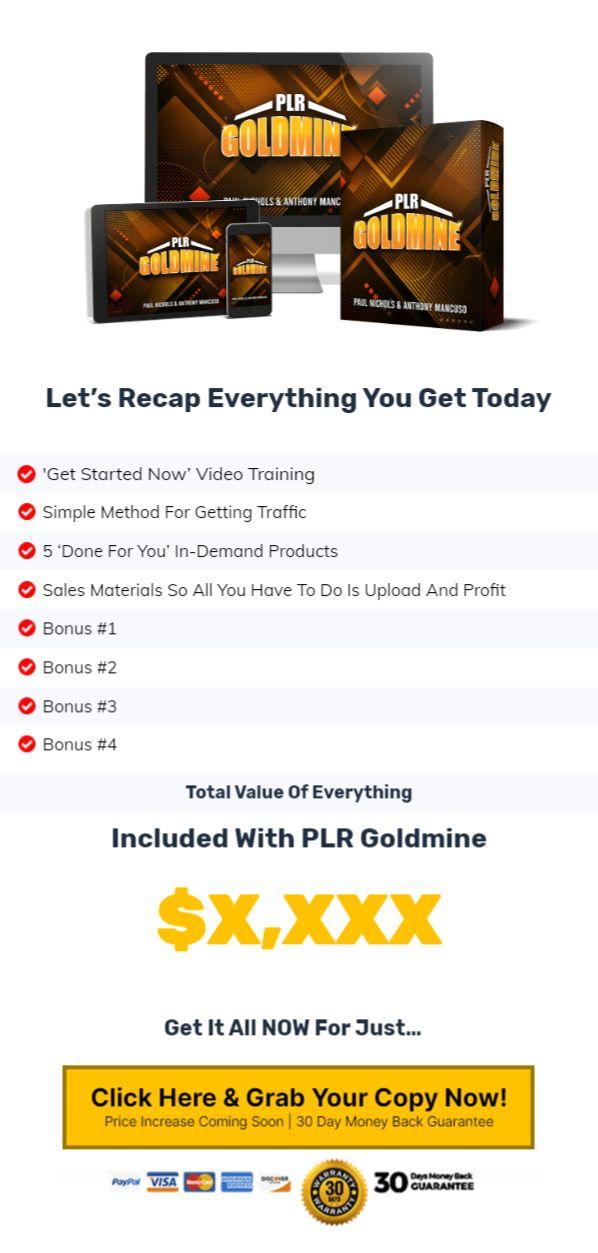 PLR-Goldmine-Price
