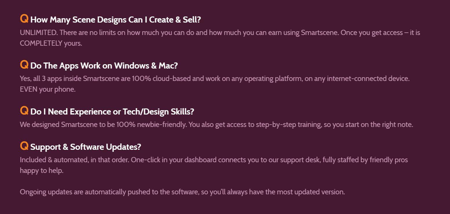 Smartscene-FAQ