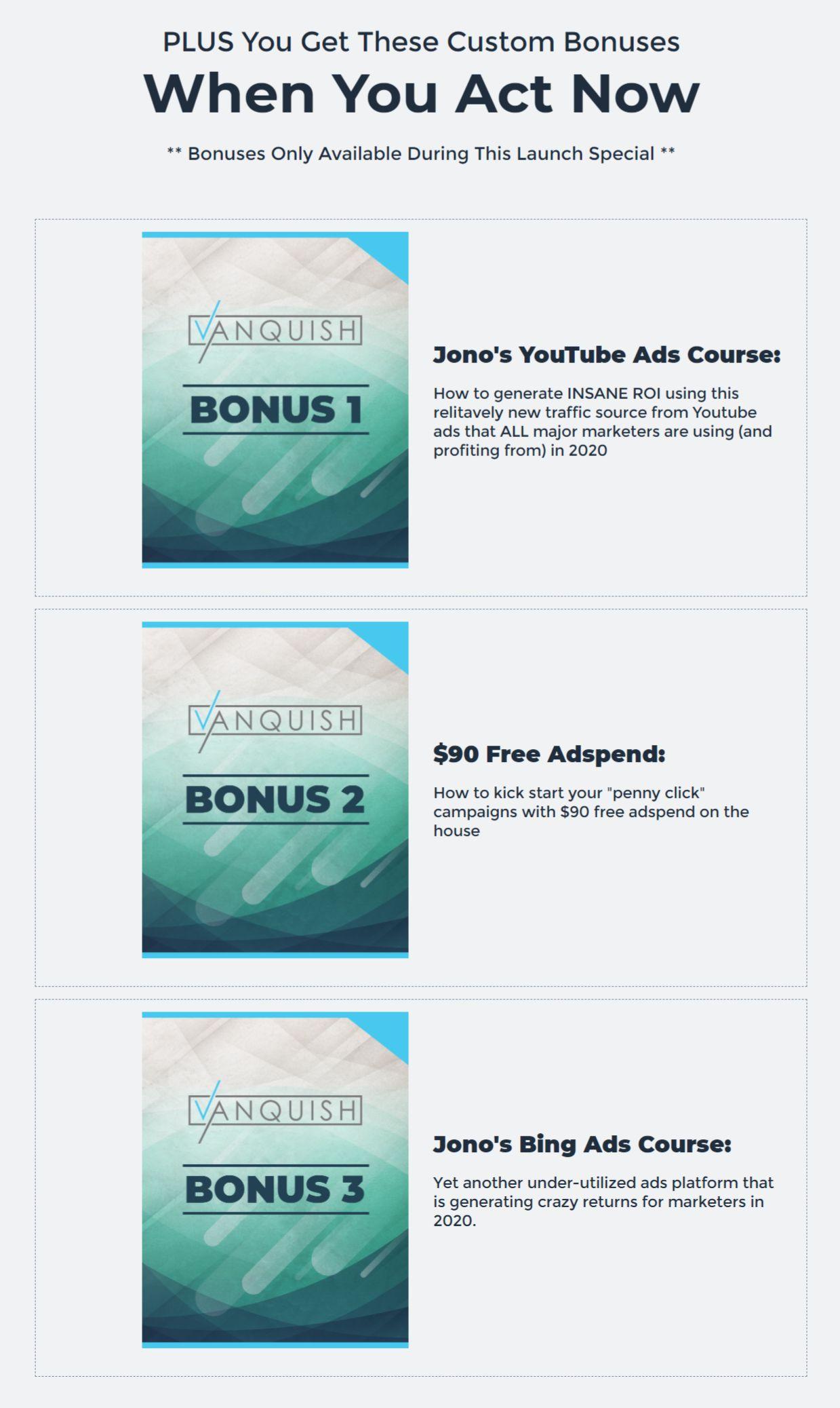 Vanquish-Bonuses