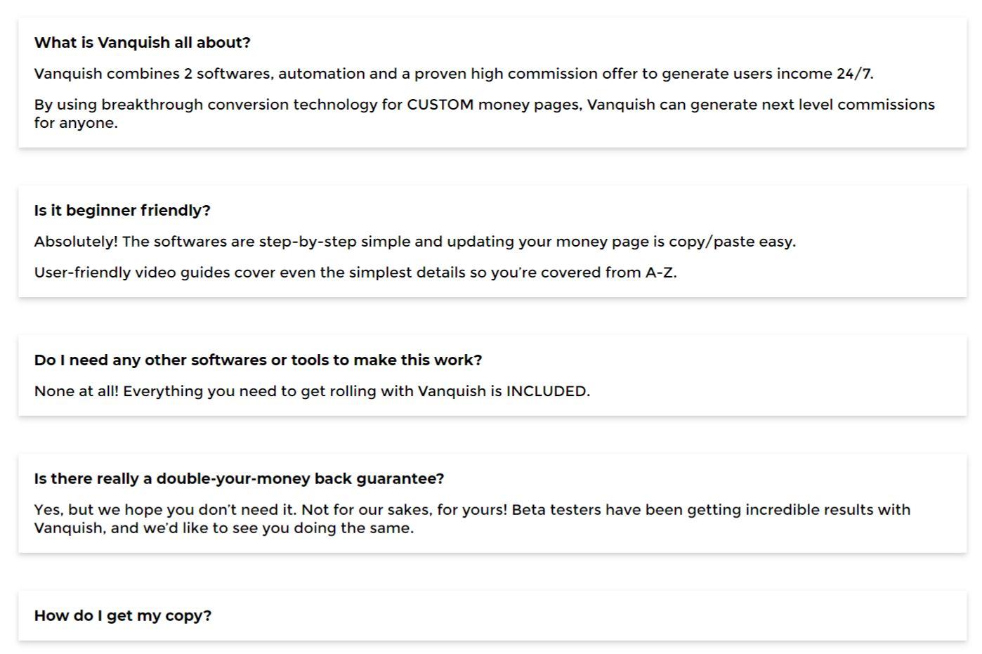 Vanquish-software