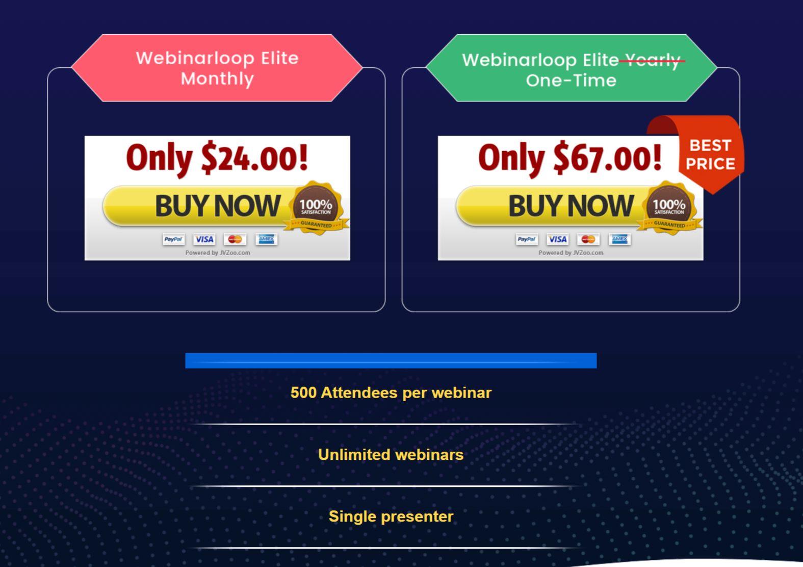 Webinarloop-Price