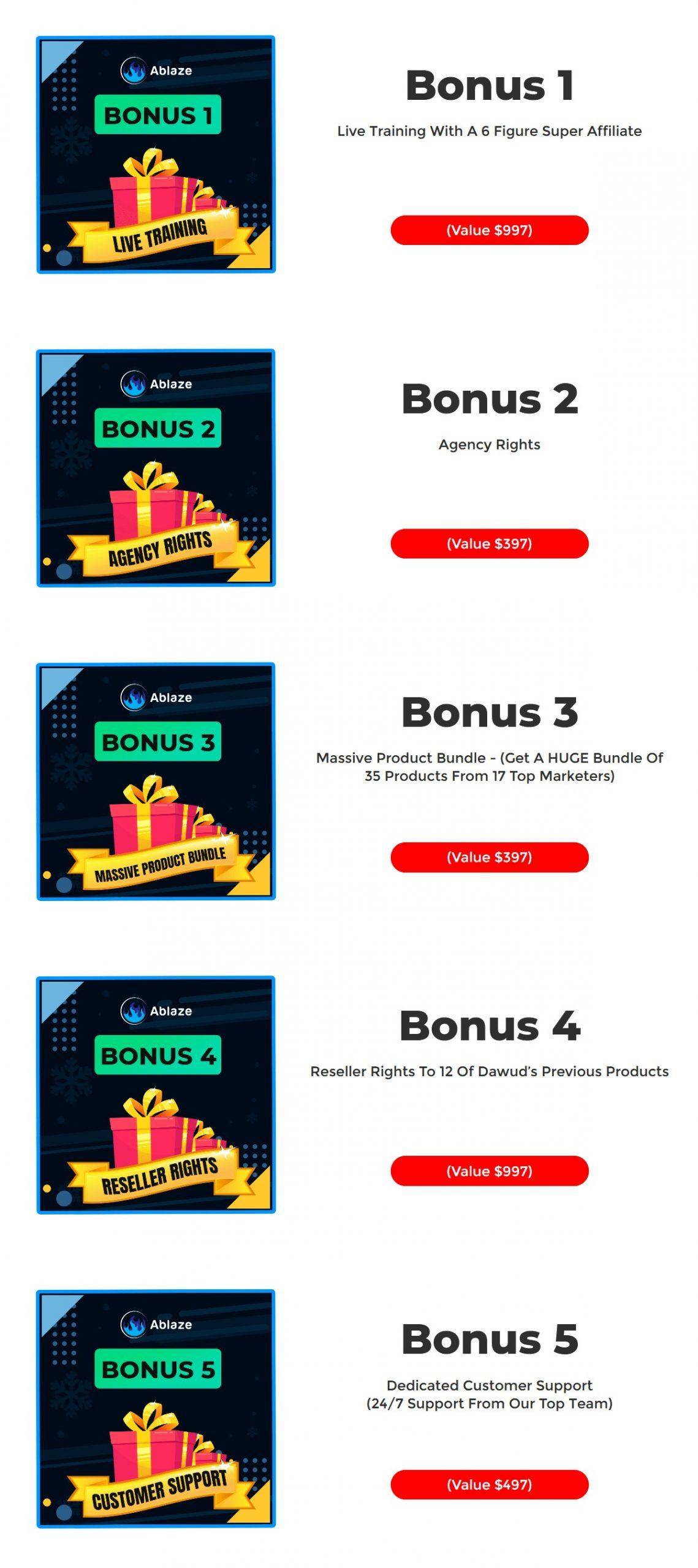Ablaze bonus
