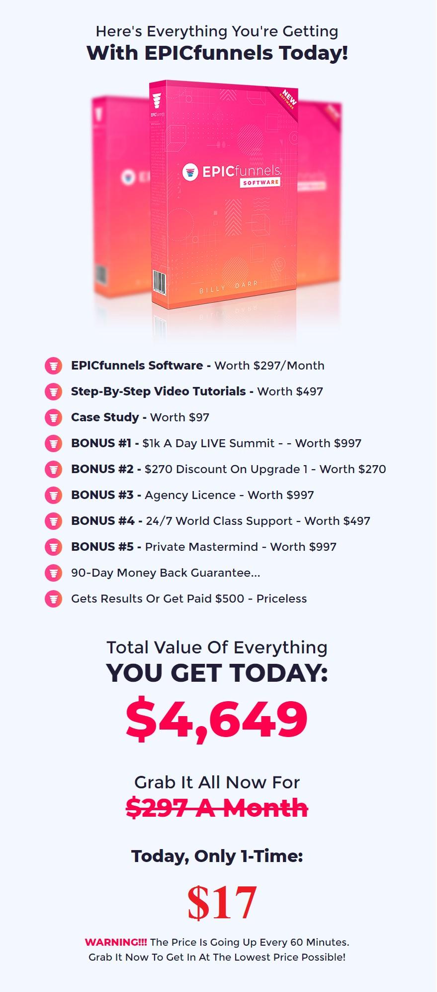 EPICfunnels-price