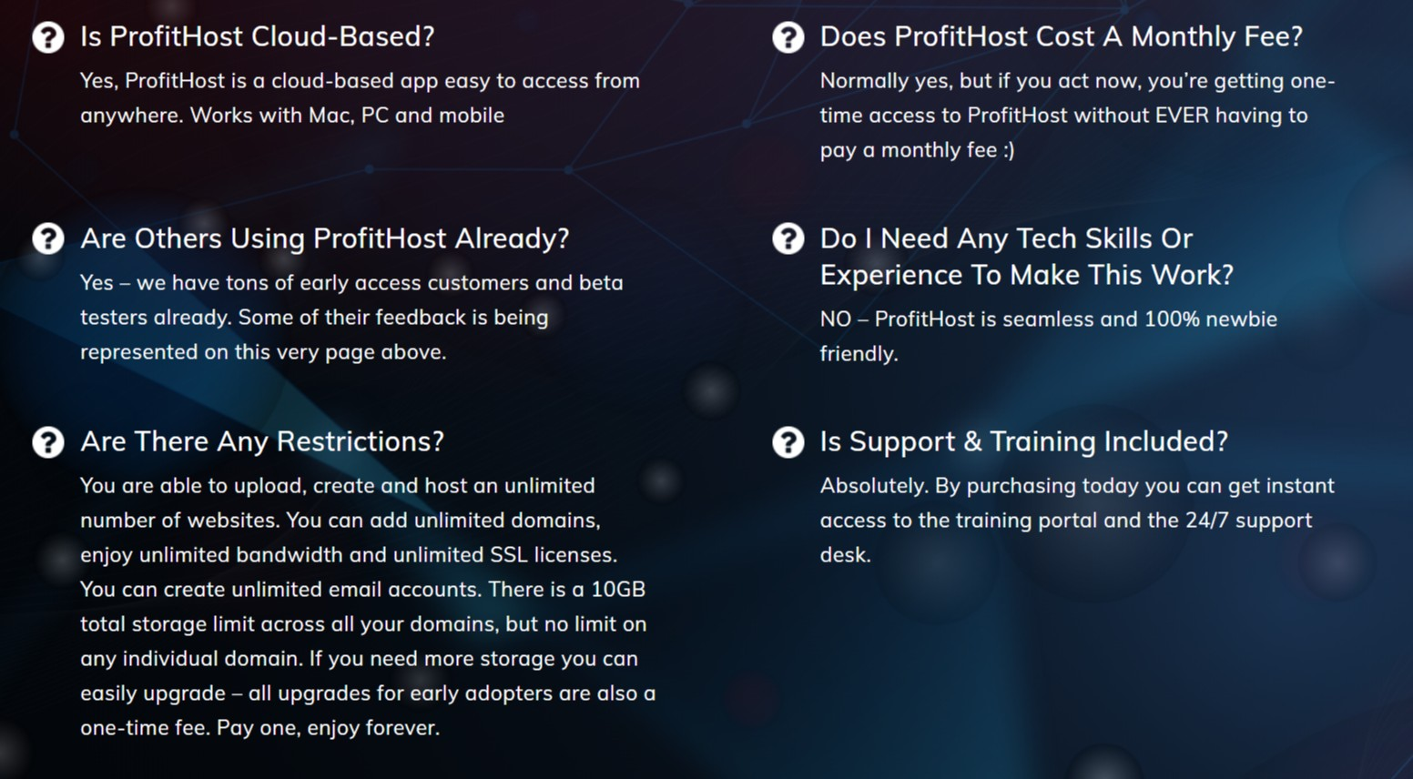 ProfitHost-faq