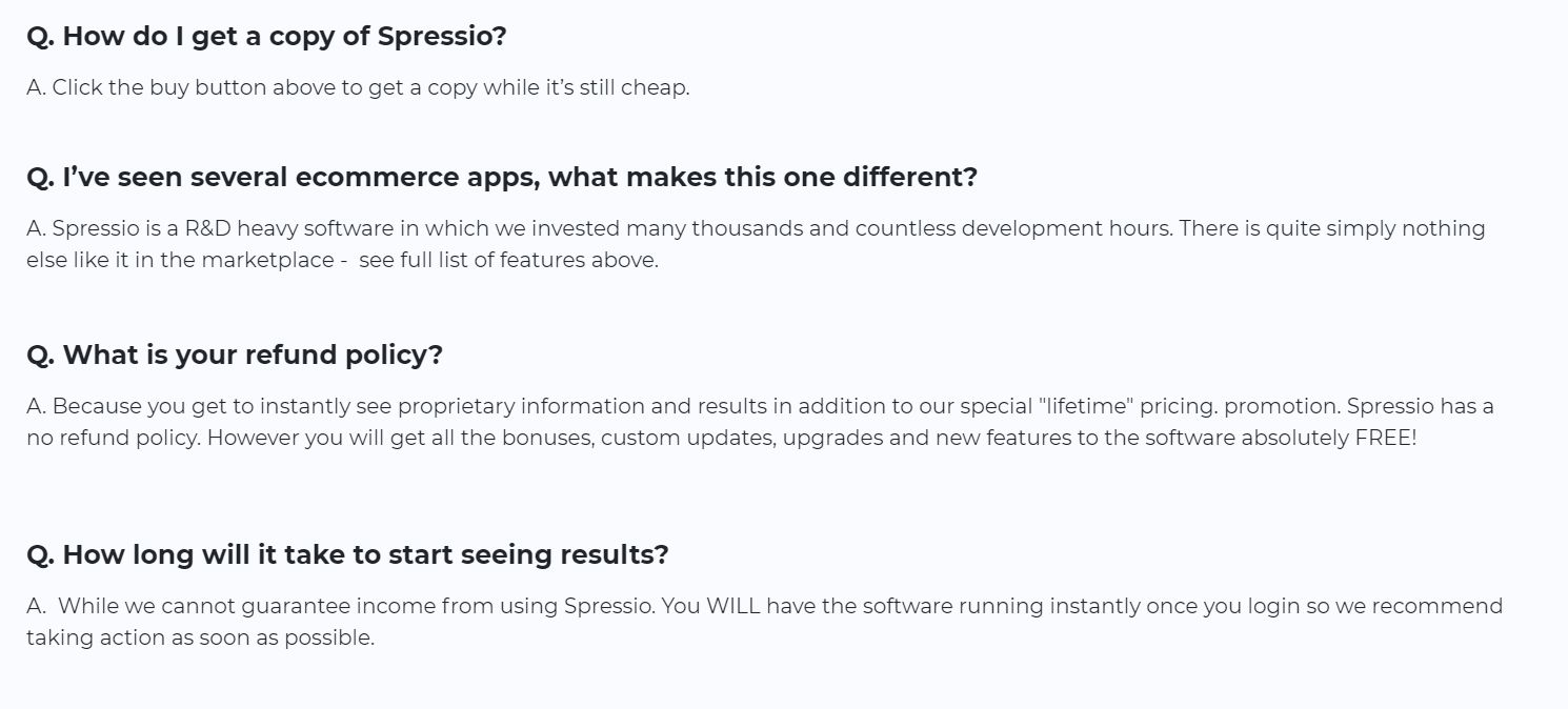 Spressio-FAQ