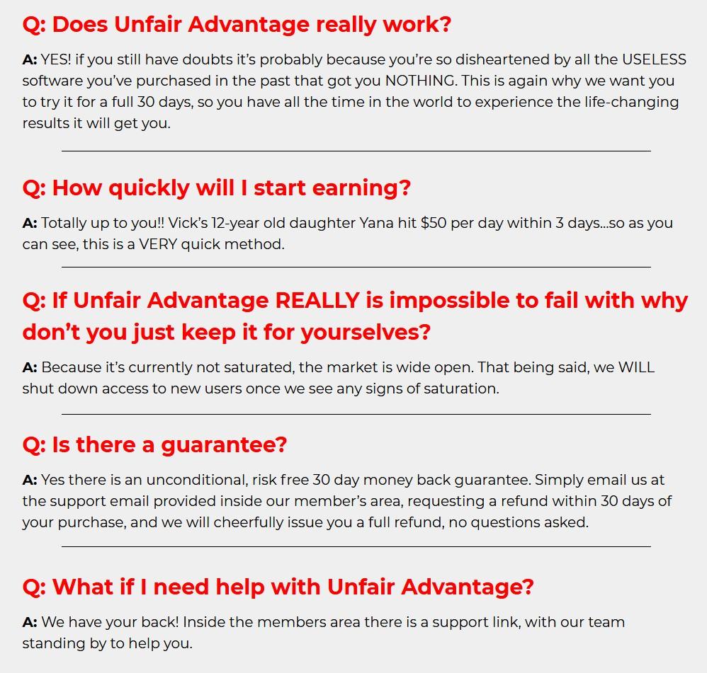 Unfair-Advantage-faq