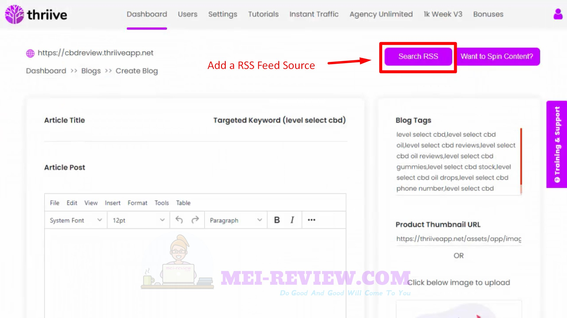 Thriive-Step-4-search-RSS
