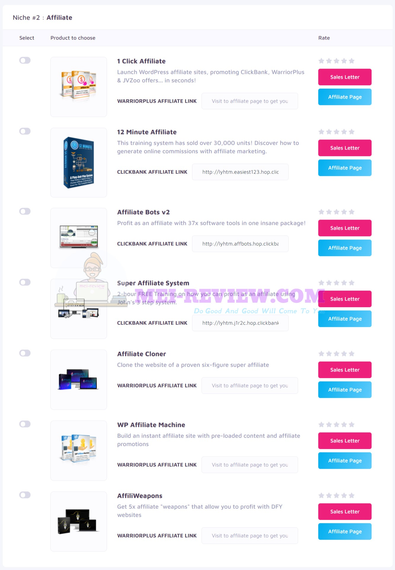 Profit-Forcer-Step-10-choose-affiliate-products