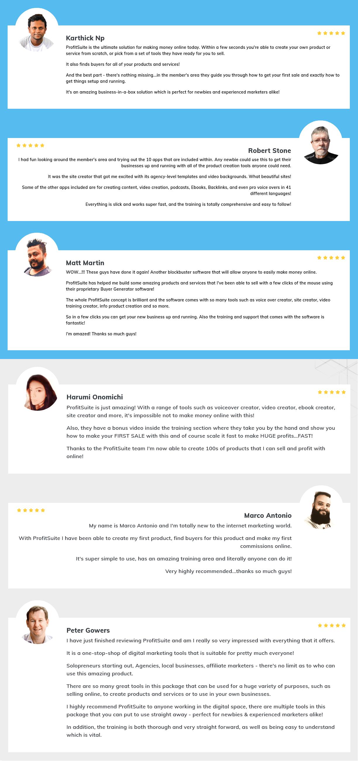 ProfitSuite-feedback