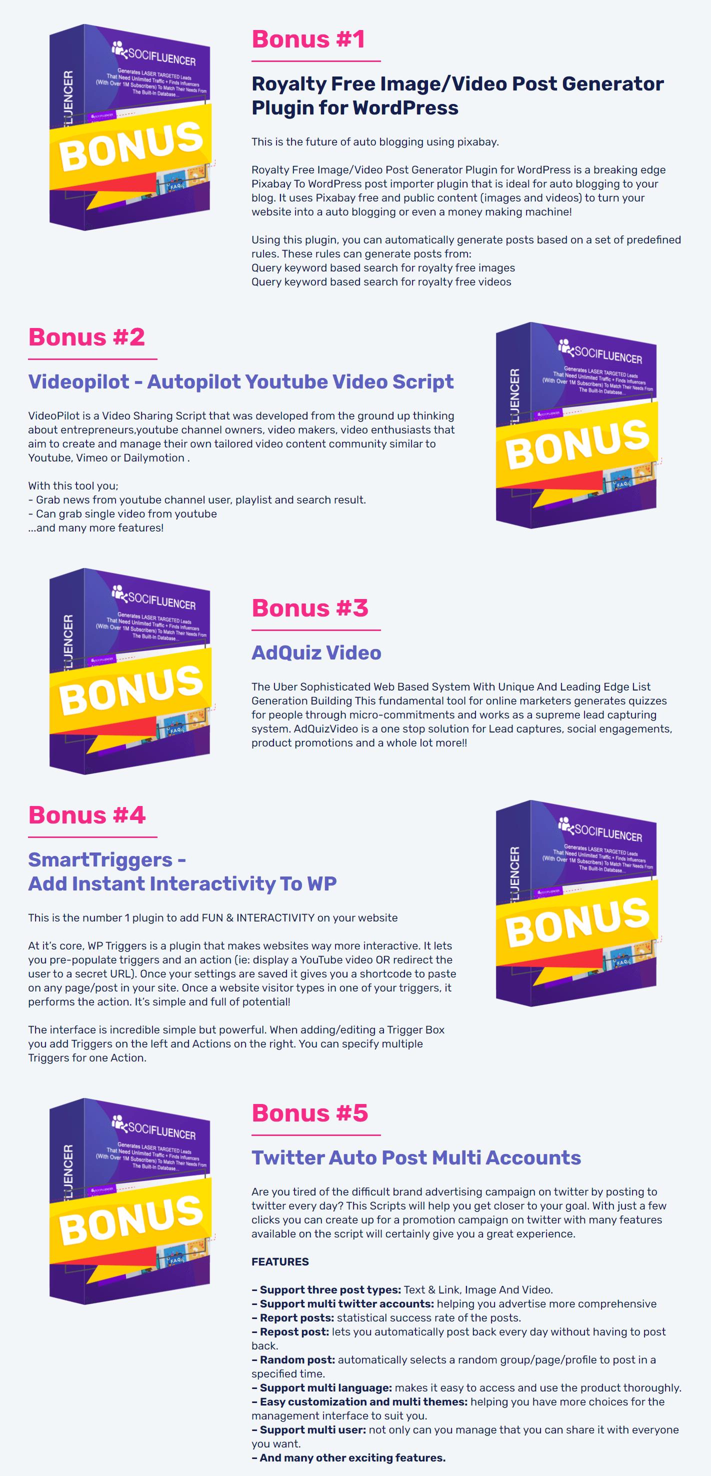 SociFluencer-Agency-OTO-1-bonuses