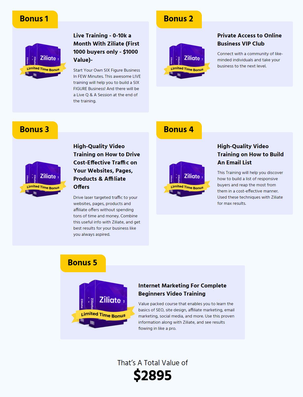 Ziliate-Bonuses-from-the-creators