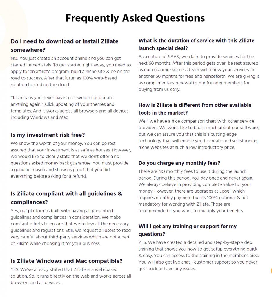Ziliate-FAQ