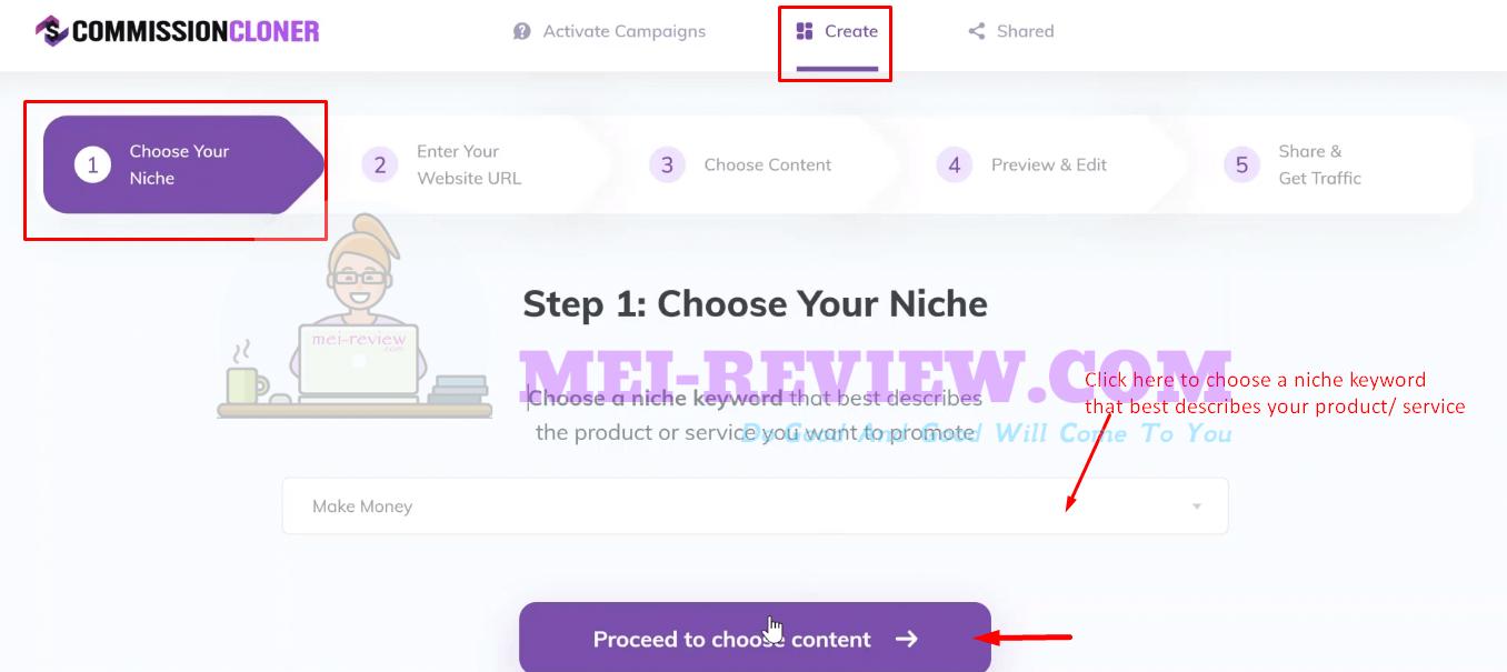 Commission-Cloner-Demo-3-Choose-niches