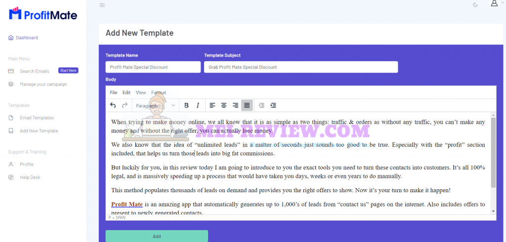 Create-email-templates-with-Profit-Mate