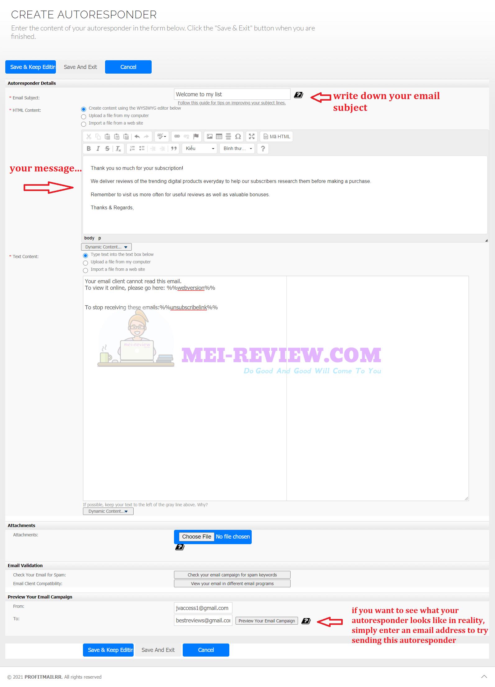 ProfitMailrr-create-autoresponder