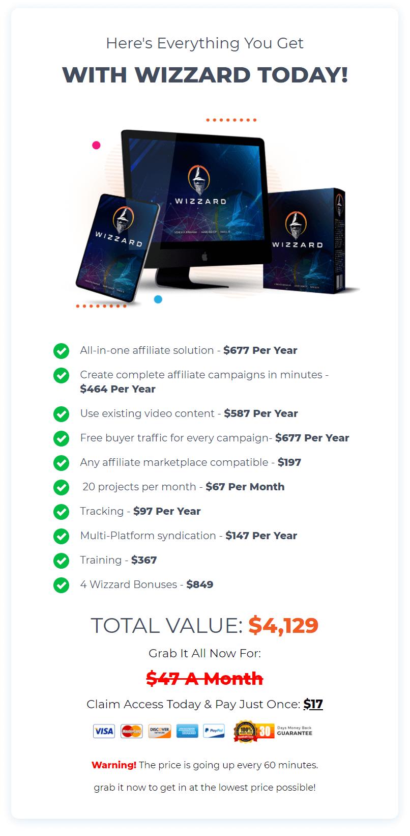 Wizzard-price