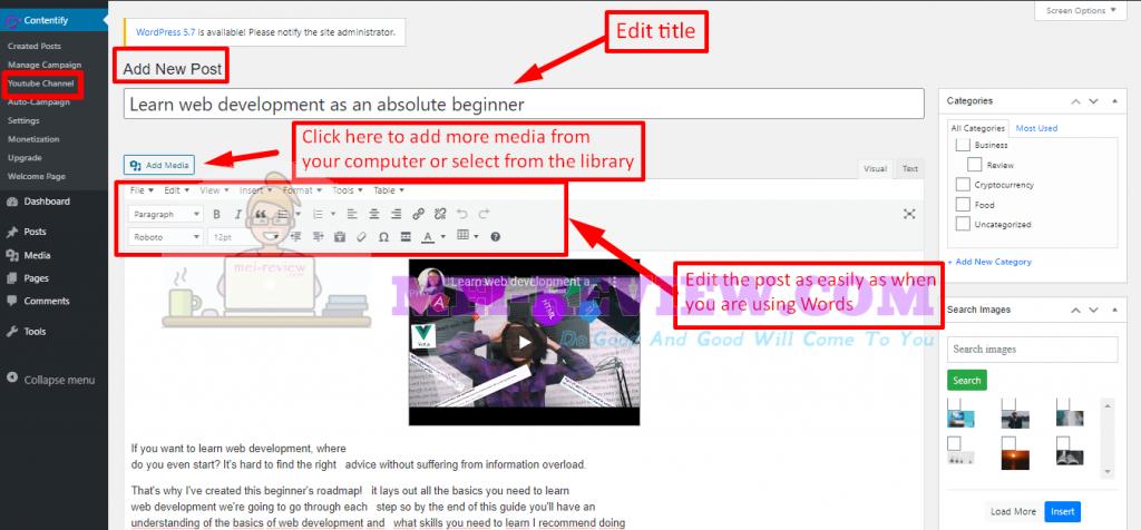 Contentify-demo-4-customize-posts