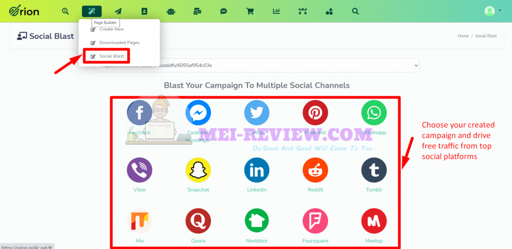 Orion-traffic-app-demo-5-social-platforms