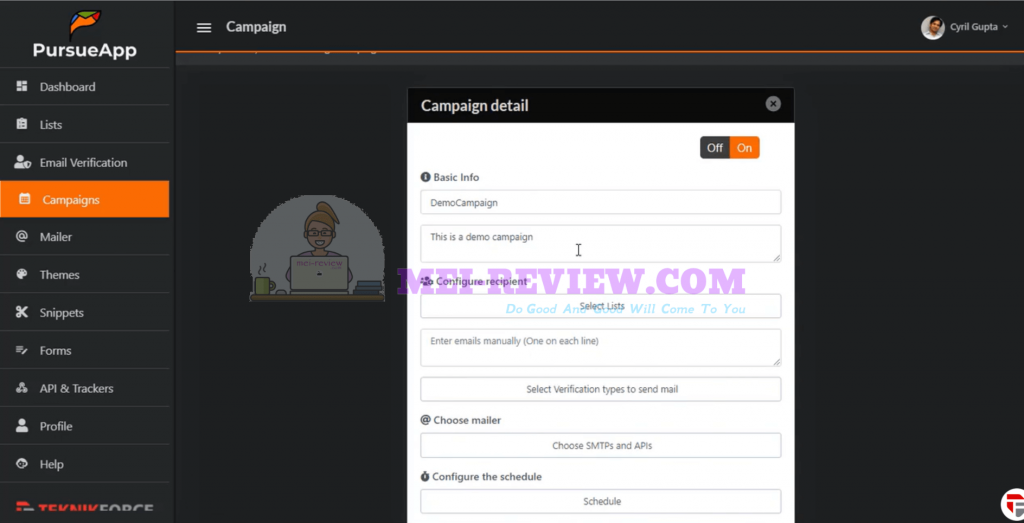PursueApp-demo-13-fill-in-campaign-details