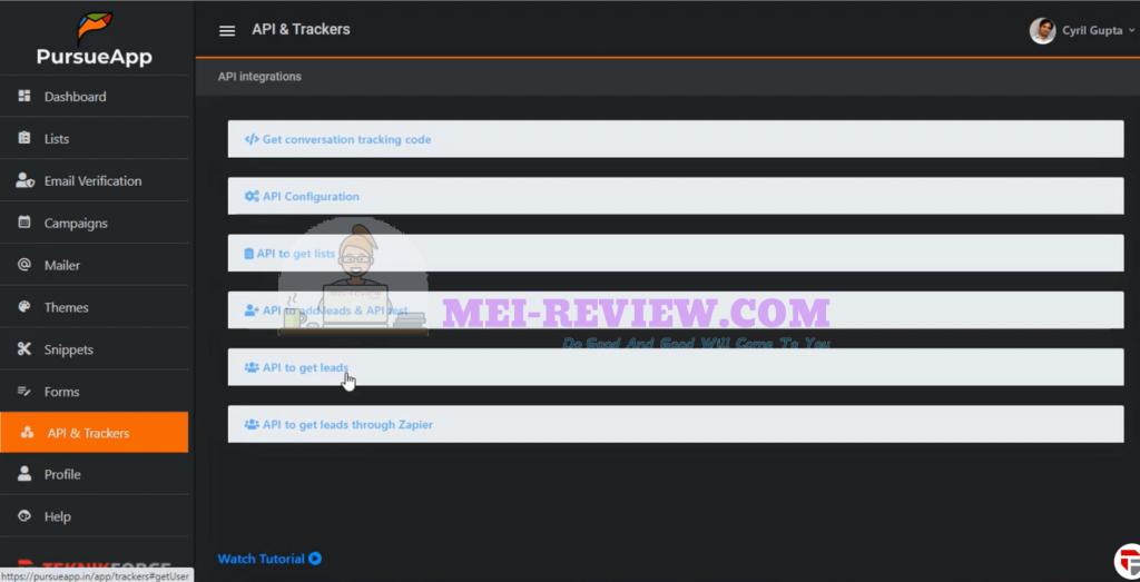 PursueApp-demo-19-API-tracker