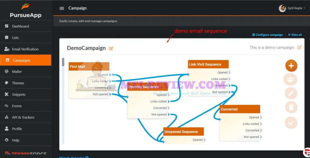 PursueApp-demo-7-campaigns