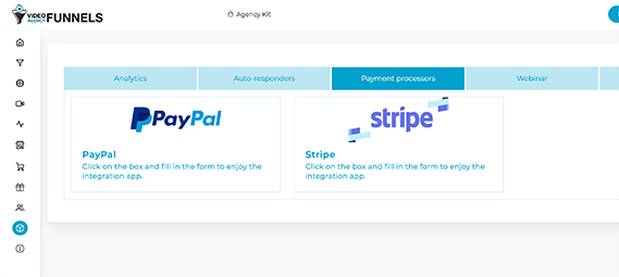 Video-Agency-Funnels-integrated-with-paypal