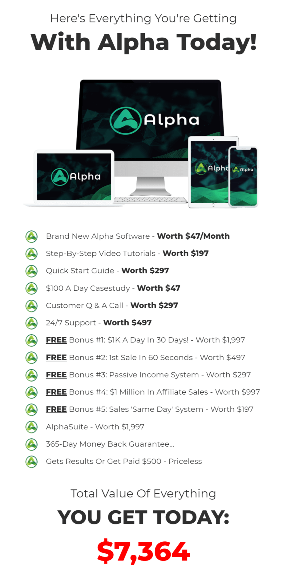 Alpha-Software-recap