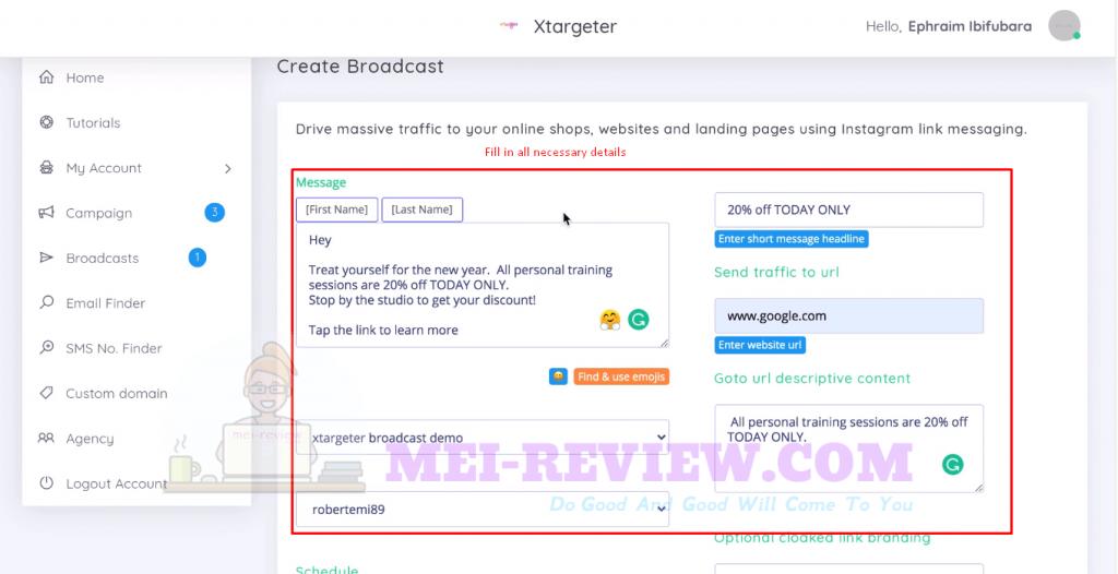 XTargeter-Demo-10-broadcast-settings