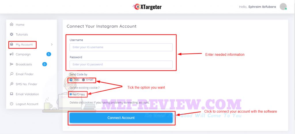 XTargeter-Demo-4-account-settings