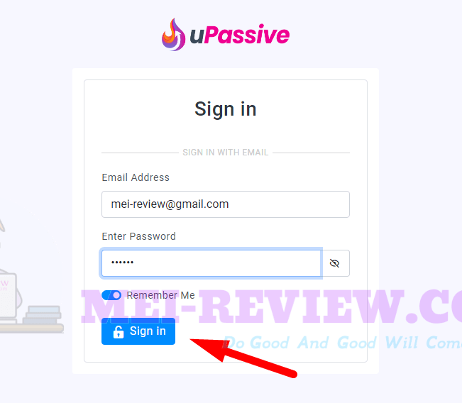 uPassive-Demo-1-login