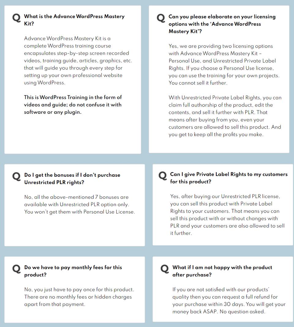 Advance-WordPress-Mastery-Kit-PLR-faq