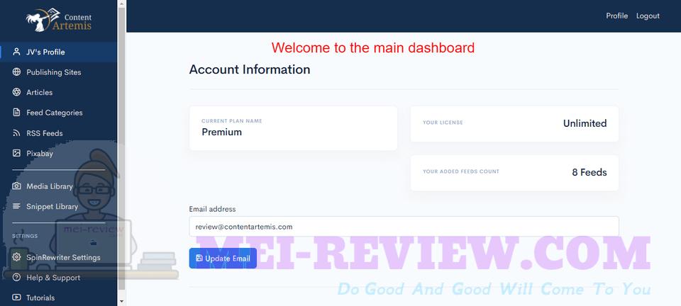 Content-Artemis-Demo-2-dashboard