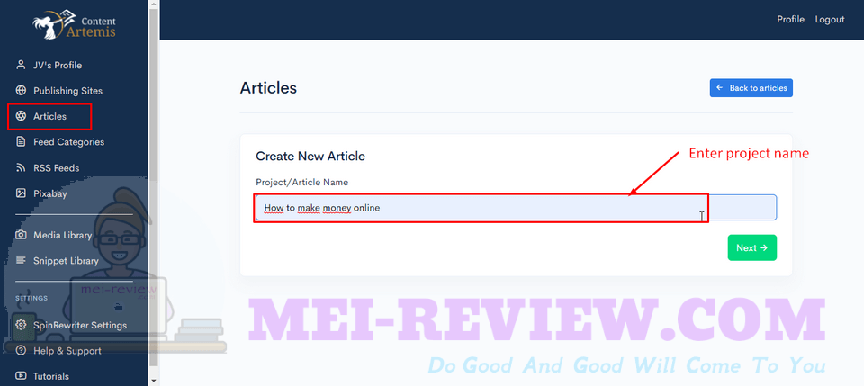 Content-Artemis-Demo-4-create-an-article-name