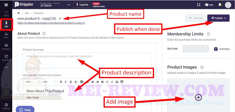 Drippler-demo-9-import-product-description