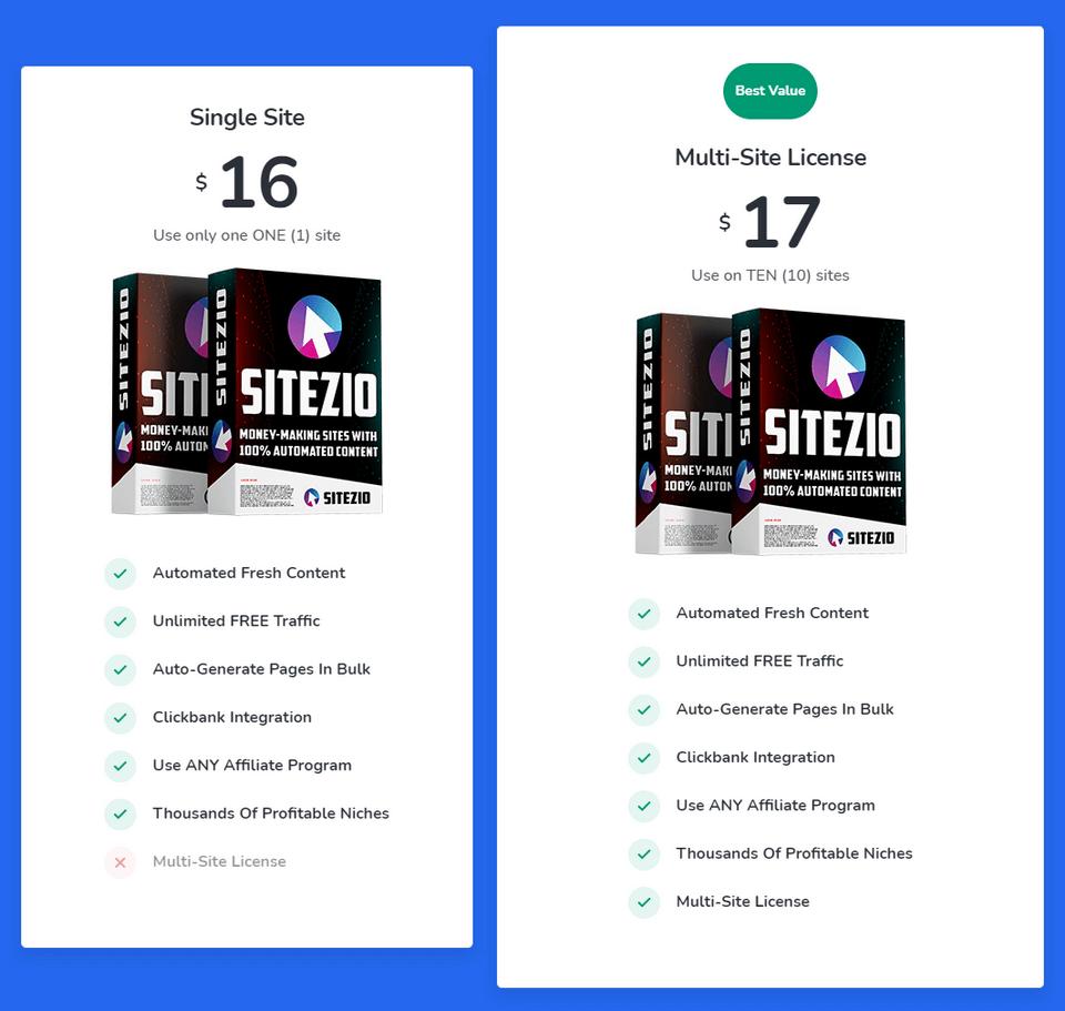 SiteZio-price