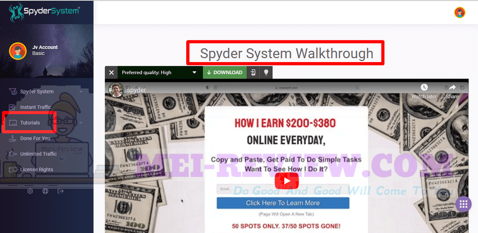 Spyder-System-demo-2-Firt-of-all-if-you-are-a-complete-newbie-and-you-want-to-get-started-on-the-app-real-fast-there-is-a-tutorials-session-which-will-give-you-complete-and-detail-guidance-from-step-1