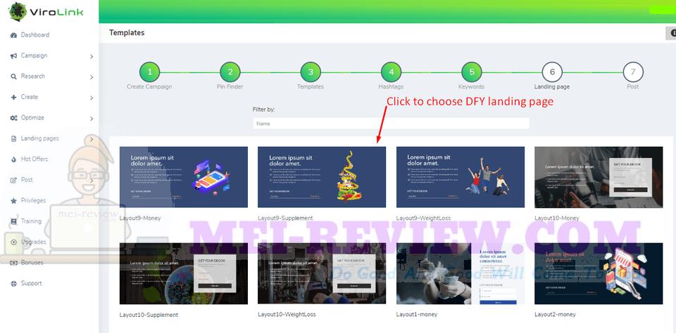 ViroLink-demo-10-Then-choose-the-landing-page